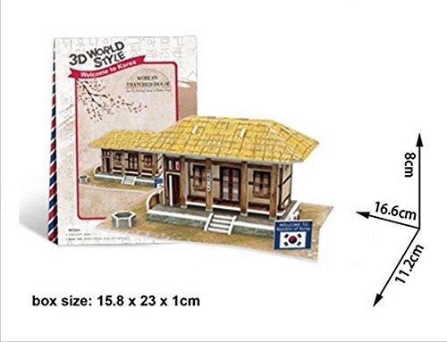 Cubicfun Cubic Fun 3d Puzzle Model 35pcs Korean Thatched ()