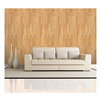 Vertical Soft Brown Wood Textured Paneling Pattern - Wall Mural, Removable Wallpaper, Home Decor - 100x144 inches