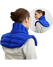 My Heating Pad - Upper Back Neck and Shoulders Heating Pad Microwavable | Large Hot Pack for Pain Relief | Shoulder Pain, Upper Back Aches, Tensed Muscles, Joints Pain and More – Blue