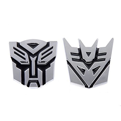 FineFun Car Decoration Transformers Sticker Logo Metal 3D Autobot Emblem Badge Decal Truck Auto styling Car Styling Covers - Autobot Car Badge