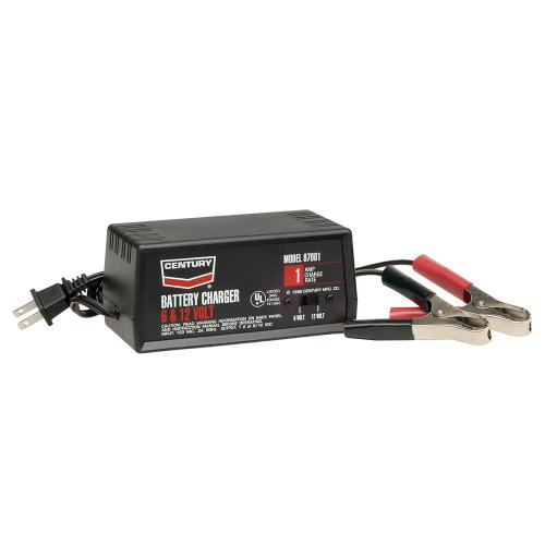 Century 87001 Battery Charger, 1 amps, 6/12V (Pack of 1)