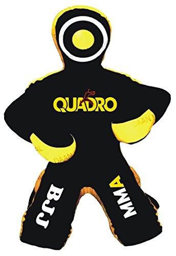 Quadro Jiu Jitsu artes marciales deportes Grappling dummy saco de boxeo–sin relleno, Negro (Leather Black), 70 inches...