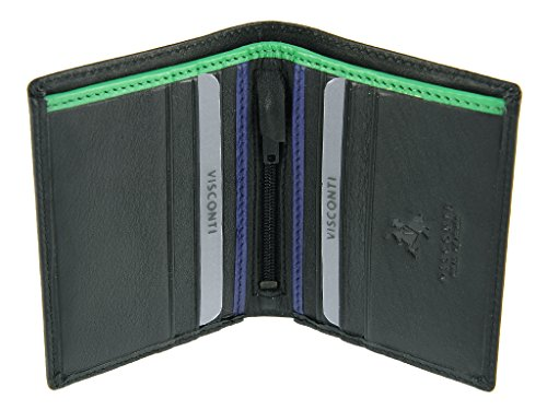 Credit Gents For Green Cards Banknotes Leather Mens Collection Bond Compact Cobalt Wallet Visconti qCwT81nW