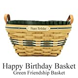 Friend's Birthday Basket..... Personalize your basket with an Engraved Brass Plaque