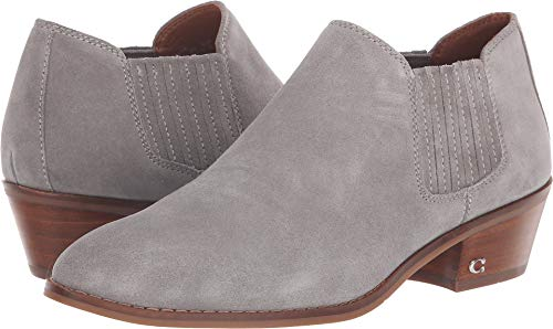 Coach Women's Suede Ankle Bootie Grey 8.5 M US