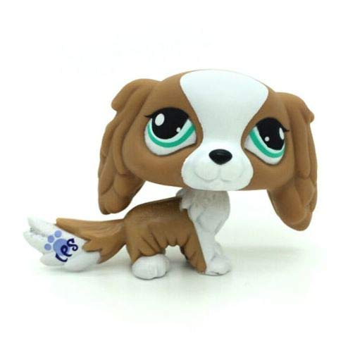 Dog Pet Shop Littlest - Littlest Pet Shop #1825 Brown & White Puppy King Charles Spaniel Dog Toys