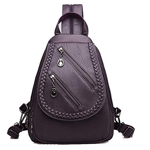 Vineux à Cuir Mode bandoulière VogueZone009 des Zippers Violet CCAFBQ181666 PU Rouge Sacs Sacs Femme 8EET7