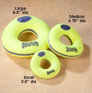 Kong Air Donut de perro Chirriador Perro Juguete, oculta Squeaker ...