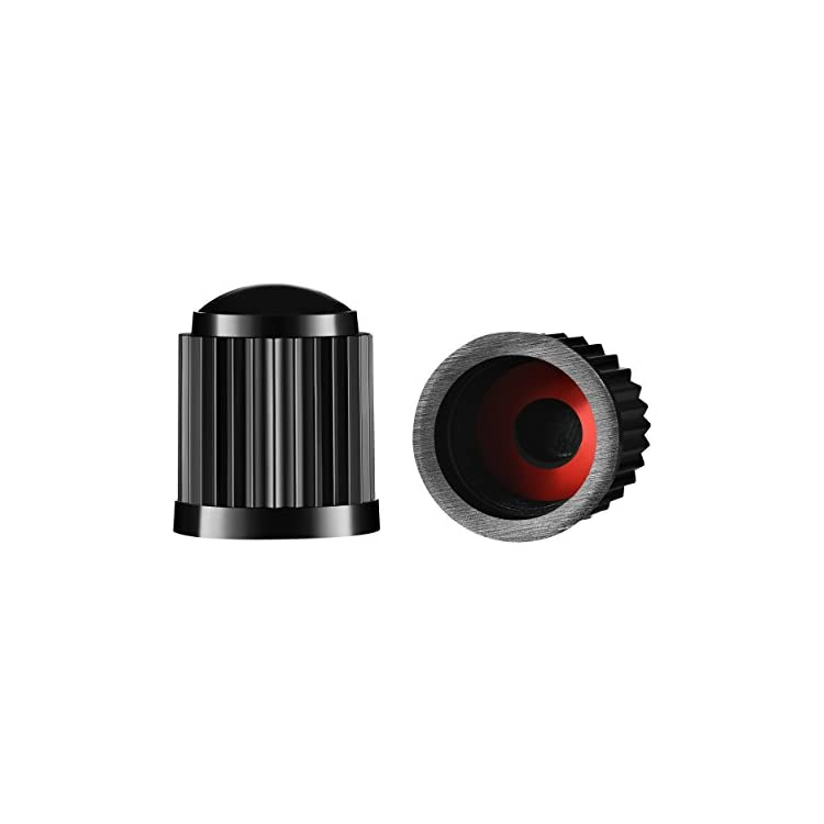Valve-Loc Tire Valve Caps (25-Pack) Black, Universal Stem Covers for Cars, SUVs, Bike and Bicycle, Trucks, Motorcycles…