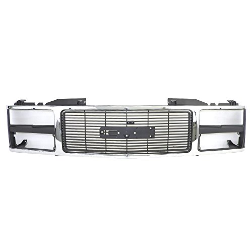 - Titanium Plus Autoparts, 1988-1993 Fits For GMC C1500/K3500/C3500/C2500/K1500/K2500 | 1992-1993 GMC Yukon/Suburban GRILLE DUAL HEAD LAMP