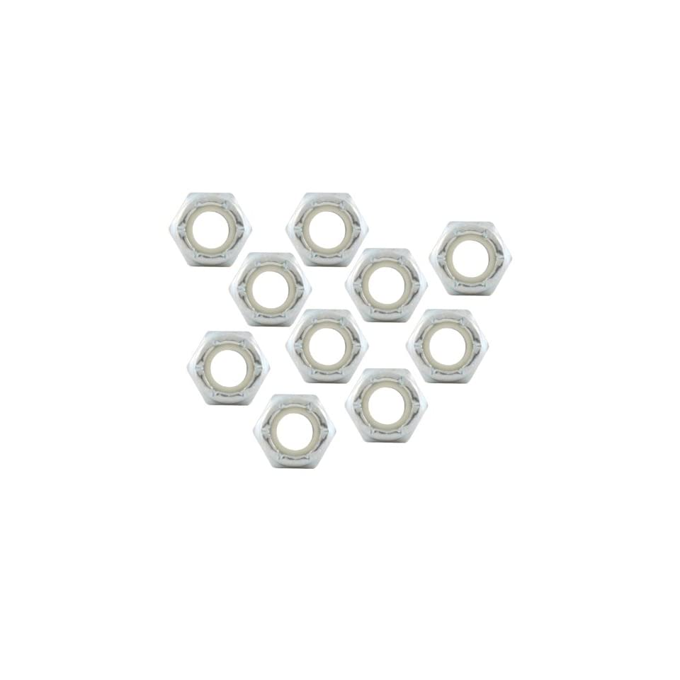 Allstar ALL16060 10 Fine Thread Hex Nut with Nylon Insert, (Pack of 10