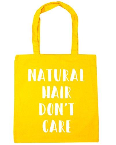 HippoWarehouse el pelo natural Don 't care Tote Compras Bolsa de playa 42cm x38cm, 10litros amarillo