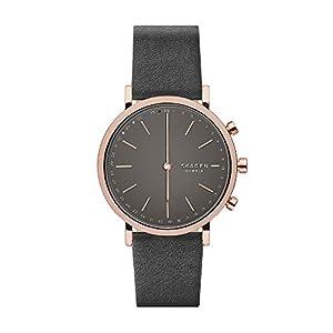 Skagen Hald Gray Leather Hybrid Smart Watch