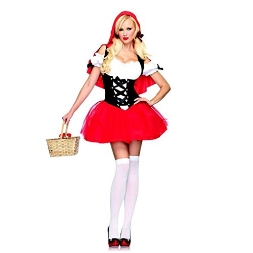 [Mememall Fashion Womens Sexy RACY RED RIDING HOOD Little Lil Hot Leg Avenue 83615 Adult Halloween] (Adult Lady Liberty Plus Size Costumes)
