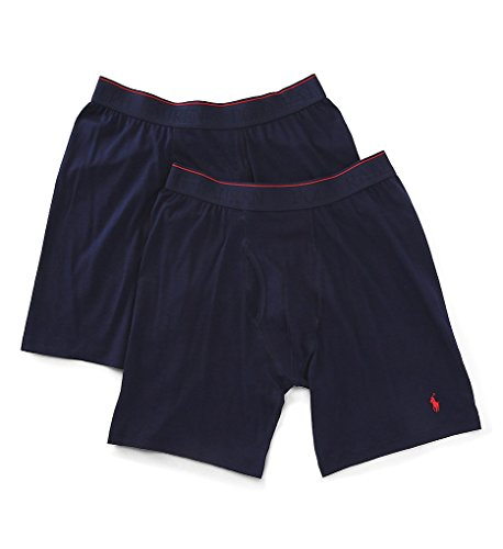 Polo Ralph Lauren Supreme Comfort Long Boxer Brief 2-Pack, S, Cruise Navy