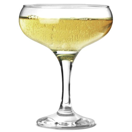 Bistro Champagne Saucers 9.7oz / 275ml - Set of 12 | 27.5cl Champagne Glasses, Champagne Coupe Glasses, Elegant and -