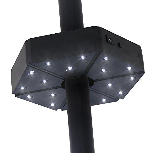 Baner Garden TD17 Patio Umbrella Light,Cordless 18 LED Night Lights,Umbrella Pole Light for Patio Umbrella,Outdoor Use Or Table Light (Matte Black) by Baner Garden