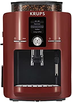 Krups EA 8255 Piano - Máquina de espresso automática, color rojo y negro: Amazon.es: Hogar