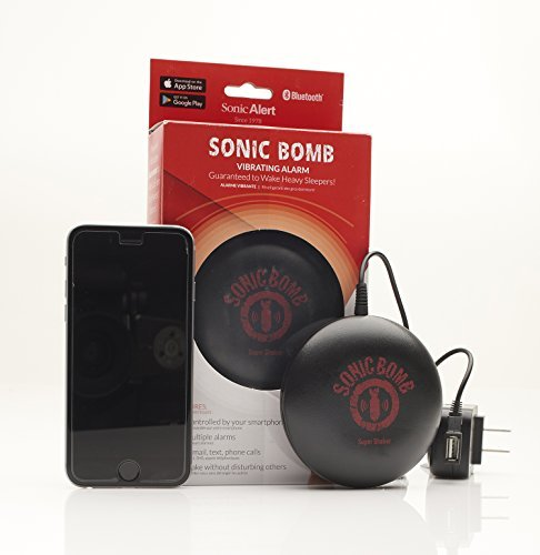 Sonic Bomb Bluetooth Super Shaker Alarm/Powerful Vibrations Guaranteed to Wake Even the Heaviest (Sonic Bluetooth)