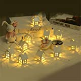 1.5M 10pcs LED Christmas Tree House Style Fairy Led String Wedding Natal New Year Christmas Decorations for Home