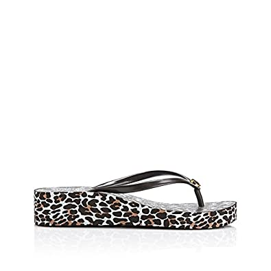 Tory Burch Women's Thandie Wedge Flip Flop 1 Leopard Brown Rubber  Flip-Flops and House