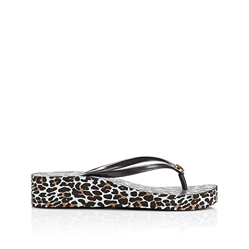 8804a1dc9d Tory Burch Women's Thandie Wedge Flip Flop 1 Leopard Brown Rubber  Flip-Flops and House Slippers - 5.5 UK: Buy Online at Low Prices in India -  Amazon.in