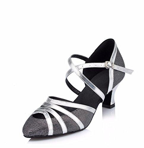 alto cinturino in Nero moderno Sandali Danza Criss 40 5cm tacco fibbia Masocking Cross nero metallo 5cm Donna Scarpe da wTnSqpO0z