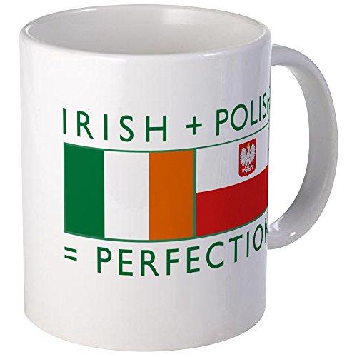 CafePress - Irish Polish flags Mug - Unique Coffee Mug, Coffee Cup - Old Polish Flag