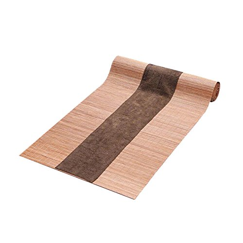 George Jimmy Japanese Style Table Decor Bamboo Table Runner Mat Tea Curtains-A4 by George Jimmy