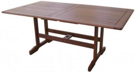macizo mesa de jardín, mesa extensible 180 – 240 cm de alta ...