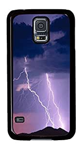 Samsung Note S5 CaseLightning Bolt On The Top Of A Mountain PC Custom Samsung Note S5 Case Cover Black