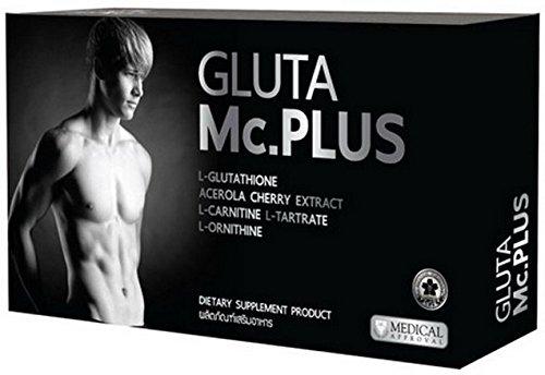 Gluta Mc.plus Whitening for Men 20 Capsules Reduce Ance Strengthen Muscle Premium Grade