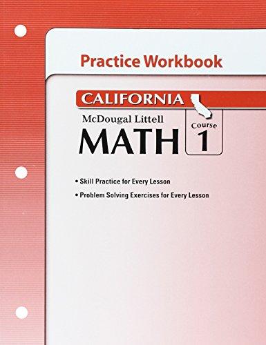 McDougal Littell Middle School Math California: Practice Workbook Course 1