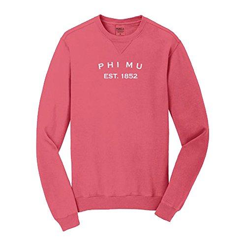 Phi Mu Pigment Dyed Crewneck Sweatshirt Small Fruit ()