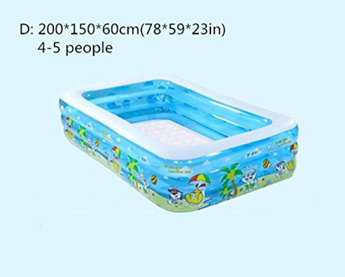 Nola Sang Family Pool Inflatable Swim Center Children Adult Swimming Pool Child Play Lounge Pool Outdoor Backyard Garden , D by Nola Sang