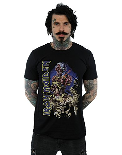 Iron Maiden Men's Somewhere in Time T-Shirt X-Large Black