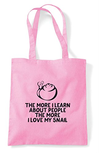 Funny Learn People Love Bag Lover My Animal I Tote Pink Snail The Pets Shopper About Light Person More 1qwA7xEER