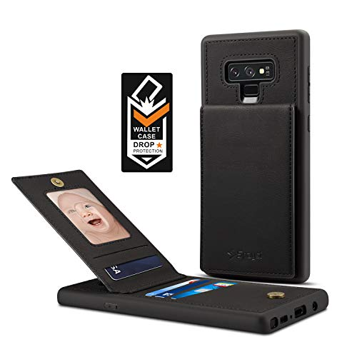 Samsung Galaxy Note 9 Card Holder Case, Note 9 Wallet Case Spaysi Slim, Galaxy Note 9 Folio Leather case, Flip Cover, Gift Box, for Note9 (Black)