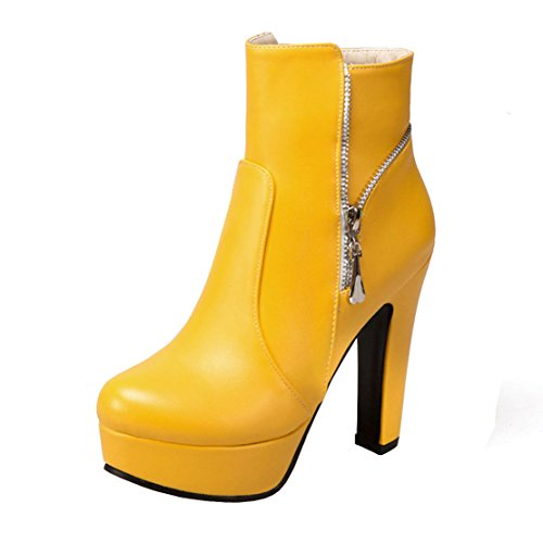 Yellow Yellow AIYOUMEI Women's Boot AIYOUMEI AIYOUMEI Classic Classic Classic Women's Women's Boot IwXPF4S