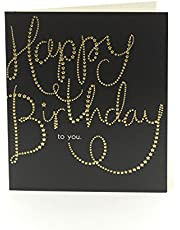 Carlton Gold Embossed Letting Design Birthday Card for Her