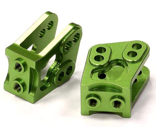Integy RC Model Hop-ups C24531GREEN Billet Machined Alloy T4 Lower Suspension Link Mount (2) for Axial Wraith