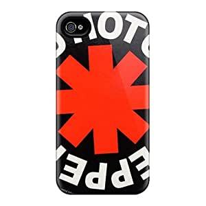 Best Cell-phone Hard Cover For Iphone 4/4s With Custom Fashion Red Hot Chili Peppers Image KerryParsons