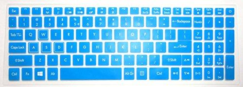 15.6' Blue Gaming Laptop (BingoBuy US layout Keyboard Protector Skin Cover for 15.6'' Acer Aspire VX5-591G gaming laptop (blue))