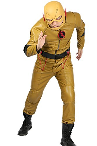 Reverse Flash Costume Updated Yellow PU Suit Mask Optional Cosplay Outfit Xcoser L Amazon.ca Clothing u0026 Accessories  sc 1 st  Amazon.ca & Reverse Flash Costume Updated Yellow PU Suit Mask Optional Cosplay ...