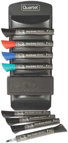 Quartet Whiteboard Accessory Caddy, Includes 8 Dry Erase Markers and 1 Eraser (558)