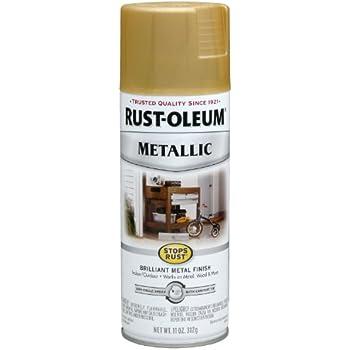 Rust-Oleum 7270830 Metallic Spray, Gold Rush, 11-Ounce