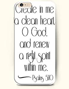 iPhone 6 Case,OOFIT iPhone 6 (4.7) Hard Case **NEW** Case with the Design of create in me a clean heart o god and renew a right spirit within me psalms 51:10 - Case for Apple iPhone iPhone 6 (4.7) (2014) Verizon, AT&T Sprint, T-mobile