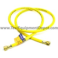 Yellow Jacket 14572 Plus II 3/8B Charging Hose, 3/8 Straight Flare, 72, Yellow