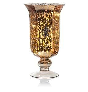 River of Goods 11545 Mercury Glass Fleur de Lis Vase