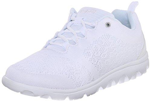 (Propet Women's TravelActiv Sneaker, White, 8.5 Wide US)